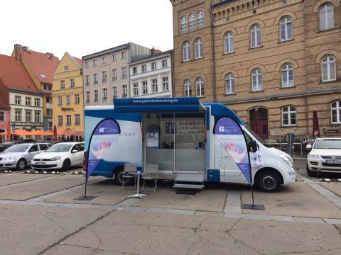 Beratungsmobil der Unabhängigen Patientenberatung kommt am 7. Februar nach Stralsund.