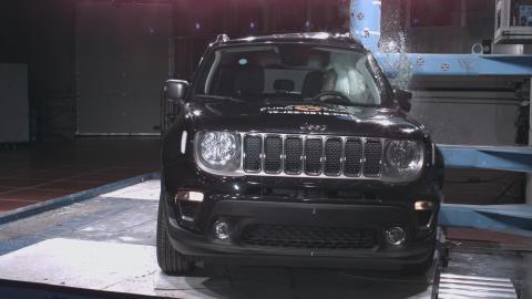 Jeep Renegade pole crash test Dec 2019