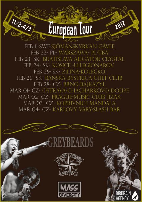 Turnéstart på Musikhuset Gävle - Europa Turné för Albumaktuella - GREYBEARDS - NORTHERN LADIES - MASS DIVERSITY