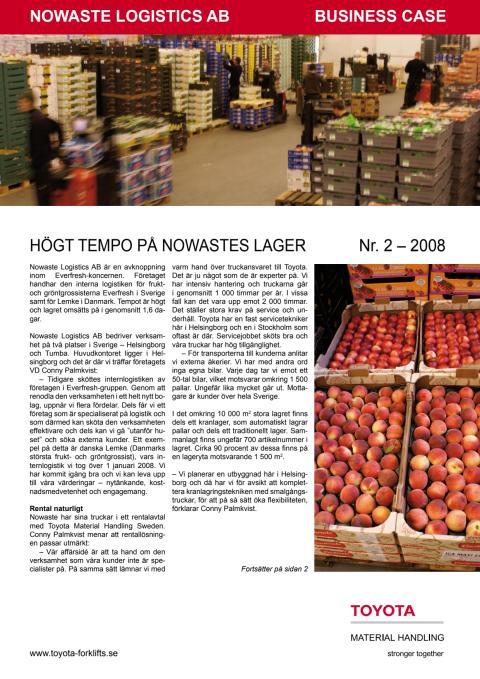 Högt tempo på Nowastes lager i Helsingborg