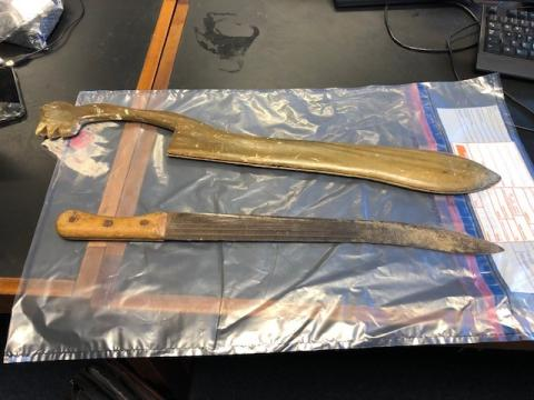 Knife and sheath recovered on Oct 2 in Brent