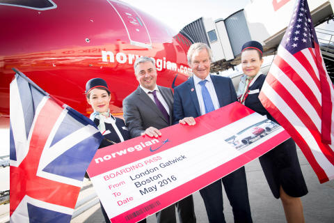 Norwegian celebrates anniversary of low-cost flights to America and announces new route to Boston