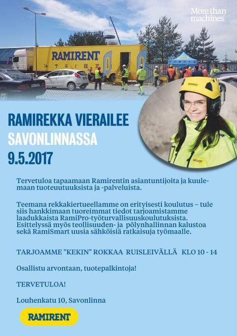 Ramirekka vierailee Savonlinnassa 9.5.2017