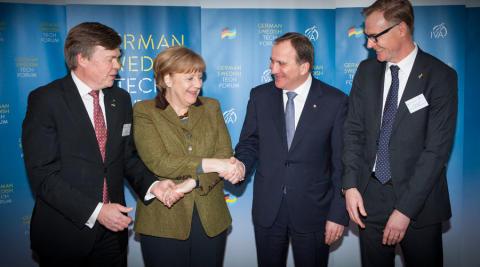 Angela Merkel begrüßt neue deutsch-schwedische Zusammenarbeit in Innovationsfragen