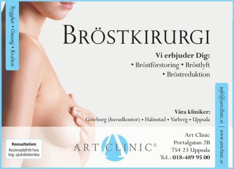 Bröstkirurgi - annons i dagspress