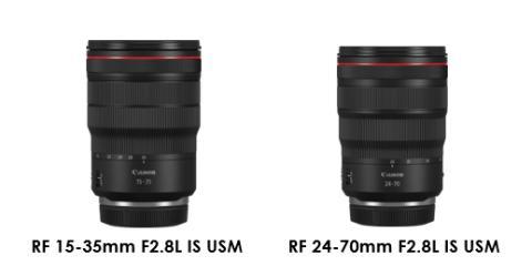 Canon presenterar de första två av tre RF F2.8L-objektiv och utökar det banbrytande objektivsortimentet för EOS R systemet
