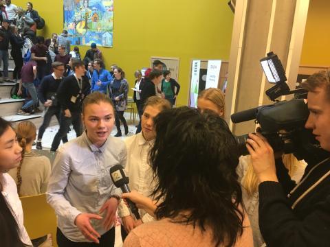 Glade vinnere. Foto: Kaja Baardsen, Ungt Entreprenørskap.