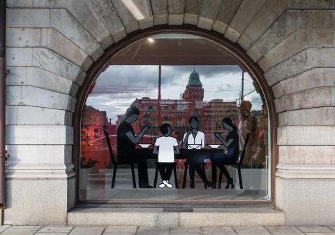 Exteriör bild, illustration fönster, Strandvägen