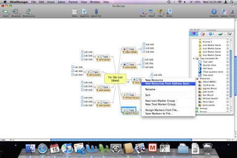 Adressbok - MindManager 8 för Mac