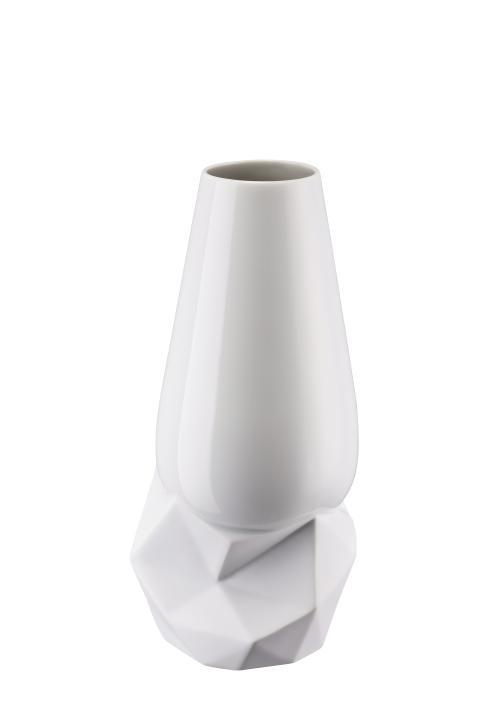R_Geode_Vase 27 cm Weiss