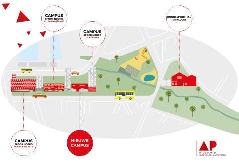 AP Hogeschool bouwt nieuwe campus op Spoor Noord