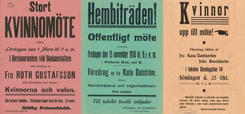 Affischkampanj upptakt till konstutställning om kvinnors rättigheter