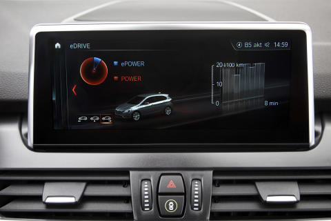 BMW 225xe iPerformance Active Tourer 2018 - skærm