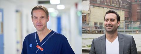 Tobias Wiren (Capio) och Fredrik Gustafsson (Joint Academy)