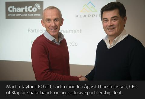 High res image - ChartCo - Martin Taylor with Jón Ágúst Thorsteinsson, CEO of Klappir