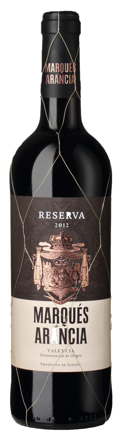 Marqués de Arancia Reserva 2012, Valencia DO