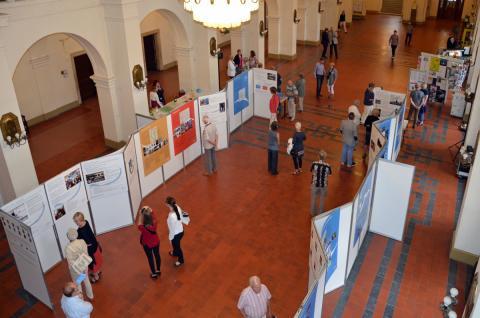 Blick auf die Notenspur-Ausstellung im Neuen Rathaus in Leipzig