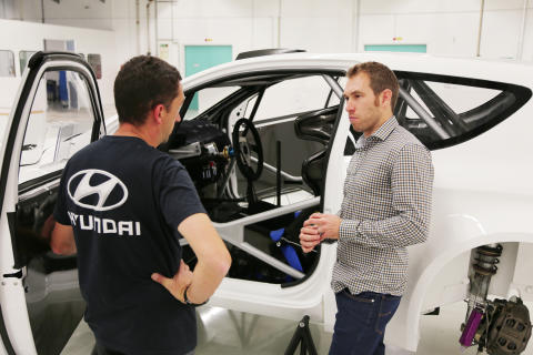Chris Atkinson er tredje testfører for Hyundai Motorsport