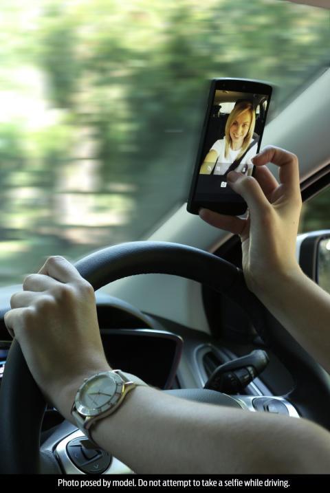"""Har du taget en """"selfie"""" bag rattet?"""
