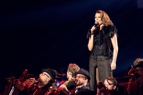 Jill Johnson uppträdde under Idrottsgalan den 15 januari 2018 i Stockholm.
