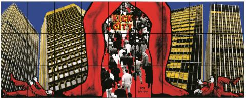 Gilbert & George,  KICK CITY, 1991