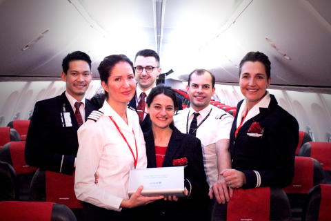 Norwegian crew with UNICEF DNA