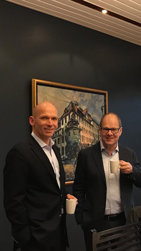 Pontus Cornelius VD Ernströmgruppen, Vidar Aasestrand VD Polyform