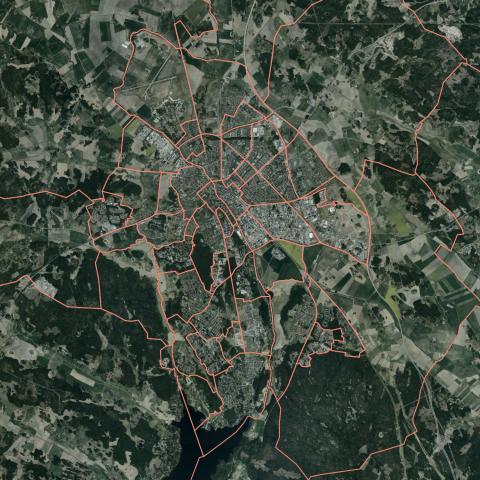 Karta över stadsdelsindelning (utan text)