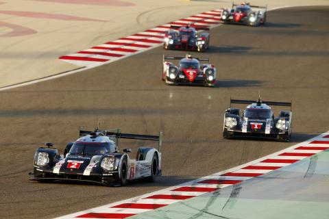 Porsche 919 Hybrid, Porsche Team 2: Romain Dumas, Neel Jani, Marc Lieb; Porsche Team 1: Timo Bernhard, Brendon Hartley, Mark Webber