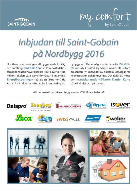 Inbjudan till Saint-Gobain på Nordbygg 2016