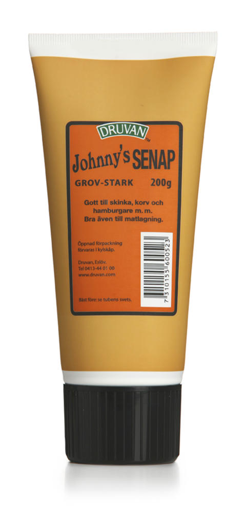Johnny´s senap grov stark tub 200g