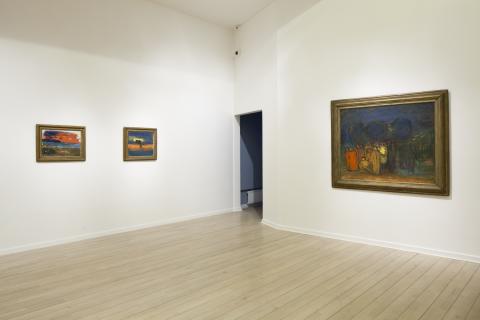 Carl Kylberg - med färgen bortom ytan. Interiörbild, Malmö Konstmuseum