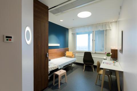 Psykiatriskt typrum på Nacka sjukhus öppet för visning