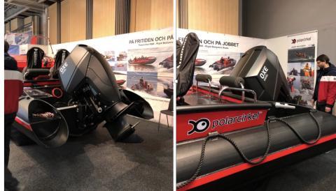 OXE Diesel displayed at allt för sjön together with Polarcirkel boats
