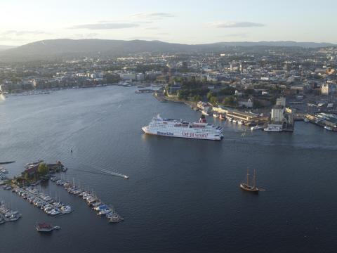 Stena Saga, utseiling fra Oslo