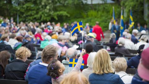 Nationaldagen firas i Parksnäckan