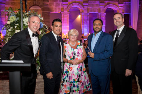 Jamie Russo (CHI), Mark Pearce (CHI), Karen Wade (CHE), Sanjeev Choraria from SKC (Comfort Hotel Great Yarmouth), Patrick Pacious (CHI).