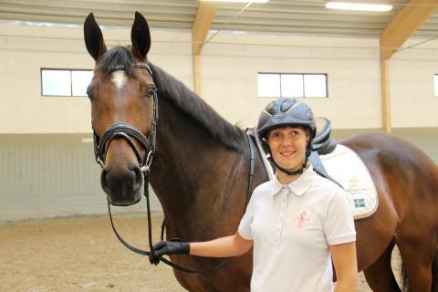 Ridsport - Sandra Karlsson rider EM
