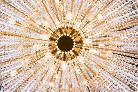 Kristallkronan i Bubbles Bar på Brasserie Makalös, Hotel Kungsträdgården