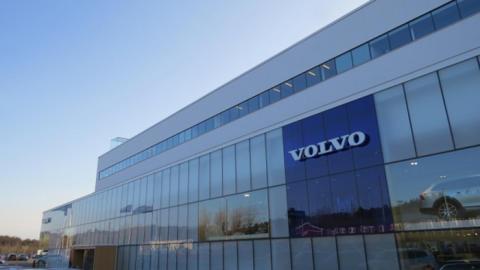 Invigning av Volvo Bils toppmoderna anläggning i Torslanda