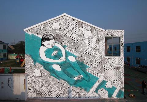 Arvostettu muraalitaiteilija Millo toteuttaa näyttävän seinämaalauksen Jyväskylään