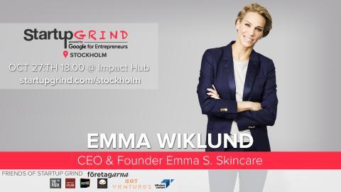 Swedish icon Emma Wiklund at Startup Grind