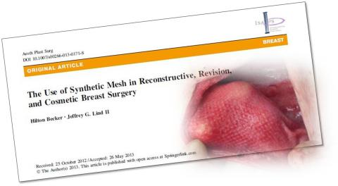 New clinical data available on the use of TIGR® Matrix in breast surgery
