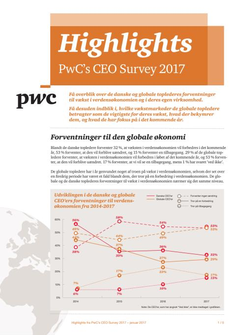 Highligts fra PwC's CEO Survey 2017