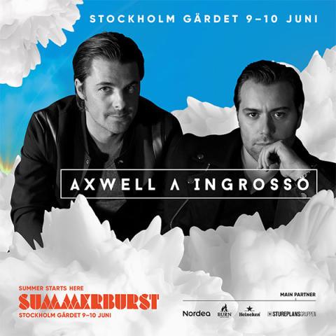 AXWELL /\ INGROSSO KLARA FÖR SUMMERBURST I STOCKHOLM 2017