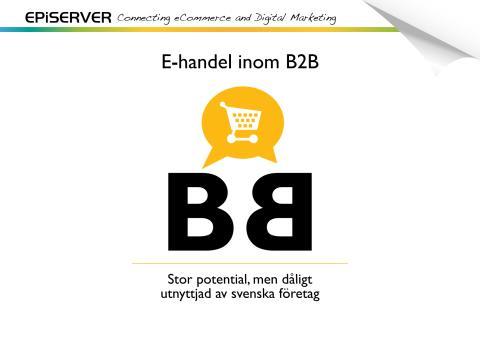 Undersökning om e-handel inom B2B i Sverige