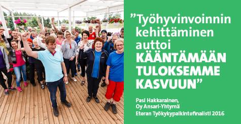 Eteran Työkykypalkintofinalisti 2016: Ansari-Yhtymä