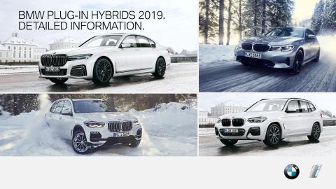 BMW plug-in-hybrid modeller 2019