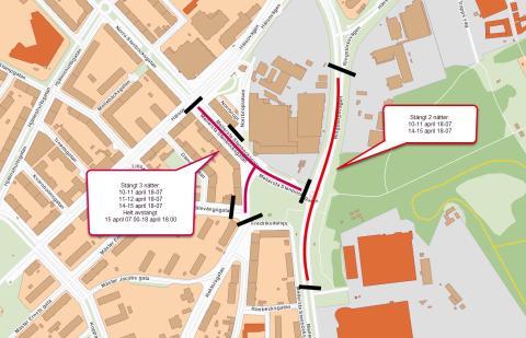 Asfaltering påverkar trafiken på Mellersta Stenbocksgatan