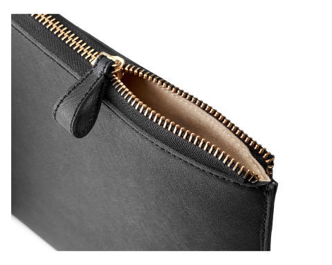 HP Spectre 13.3 Split Leather Sleeve, zipper pull, detail